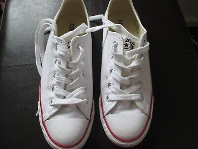 Ladies girl s Converse Size 5. Amazing Condition.worn Once. White. 8323c1963