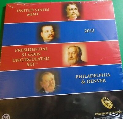 2012 p ,d Uncirculated Presidential Dollars 8 Coin Set Mint Sealed