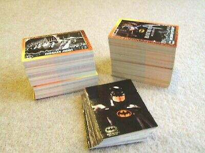 Around 360 Batman Returns Trading Cards by Topps 1992 incl 40 Stadium Club cards
