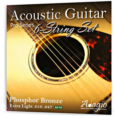 Adagio Pro ACOUSTIC GUITAR Strings Set Extra Light 10-47 Phosphor Bronze Pack