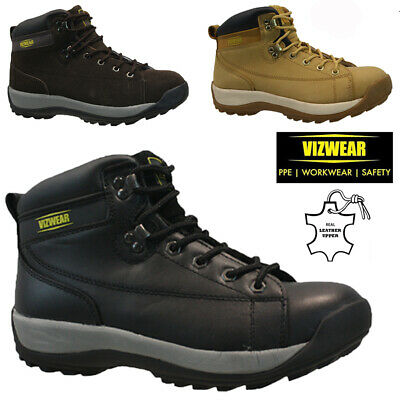 Mens Leather Steel Toe Cap Safety Work Hiker Trainers Shoes Ankle Boots Size
