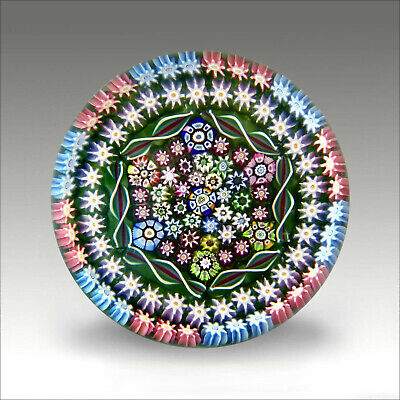 Rare Perthshire LE PP39 1980 millefiori glass paperweight / presse papiers