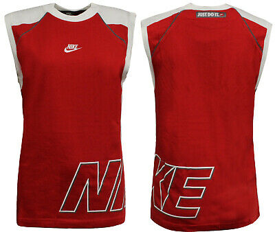 Nike Boys Active Tank Top Sleeveless Junior Training Vest Red 212986 611 A58A