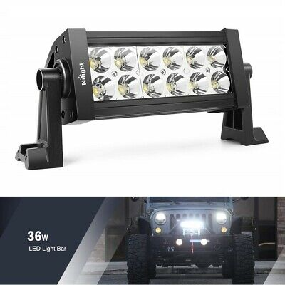LED Work Light Bar Spot Flood Combo Offroad 4WD SUV Truck Driving Fog Off Road