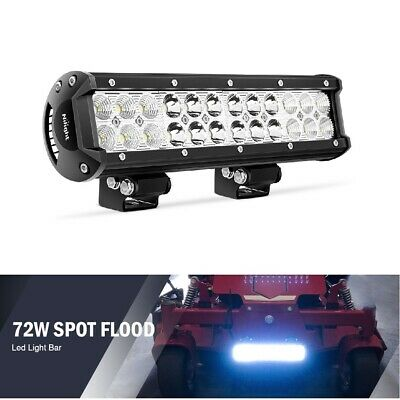 12 Inch LED Work Light Bar Spot Flood Combo Offroad 4WD SUV Truck Driving Fog