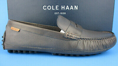 194a66a08f9 Cole Haan C27353 Coburn Men s Penny Driver Ii Stormcloud Textured Leather  New