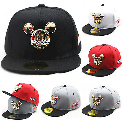 Toddler Kids Baby Mickey Mouse Peaked Sun Hats Hip Hop Baseball Ball Caps Dance