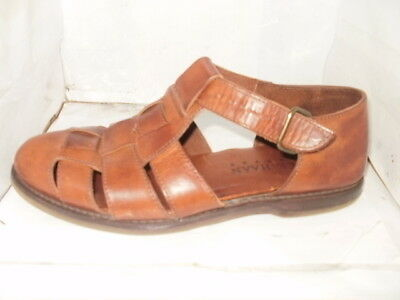 fced939dfef Cole Haan Country Men s Brown Leather Fisherman Sandals Size ...