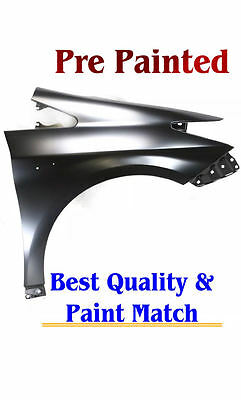 New PRE PAINTED Passenger Fender for 2004-2010 Toyota Sienna models W//O Antenna