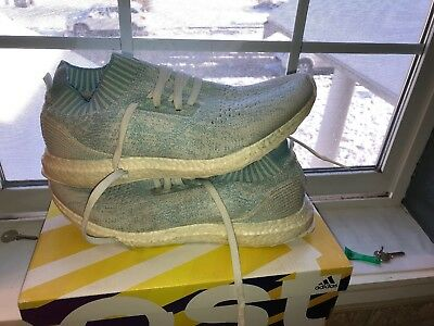 superior quality f9c08 9424d Mens Sz 10.5 Adidas Ultra Boost Uncaged Parley Ice blue, White CP9686