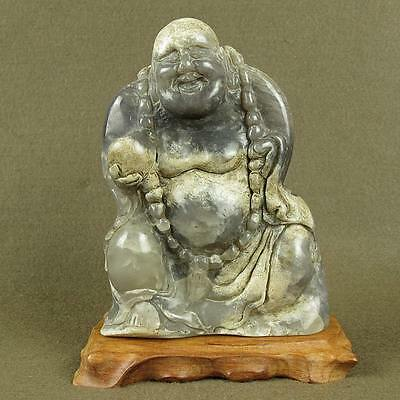 Stunning With Carved Old Chinese Antique Jade Buddha Figure Statue