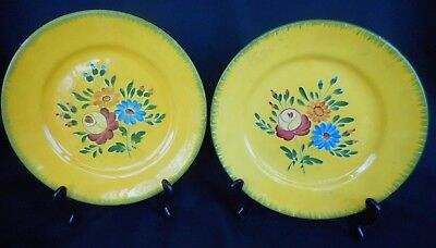 Two Vintage French Pottery Plates ~ By Longchamp - Beautiful Display Items !