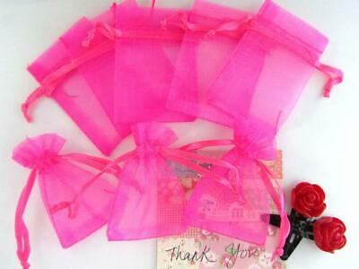 """96 Drawstring Organza Bag 4x5/"""" Party Gift//Baby Shower Favors//Pouch//Craft O2-Pink"""