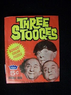 Rare 1966 Fleer  Three Stooges Wax Pack Wrapper Only No Cards