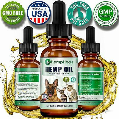 Hemp Oil for Dogs & Cats Full Spectrum Hemp Oil Extract Calming Anxiety Relief