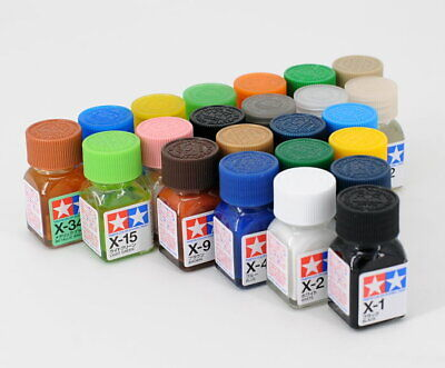 Tamiya Color 田宮 タミヤ 80001-80028 X-1 to X-34 Gloss Enamel Model Kit Paint 10ml