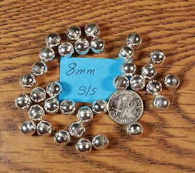 50 Sterling Silver 8mm Bench Made Beads Raised Seam Made in USA