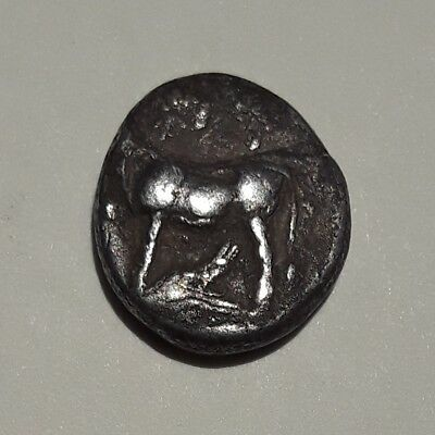 Northern Ancient Greece 416-357 BC  Byzantion AR Drachm