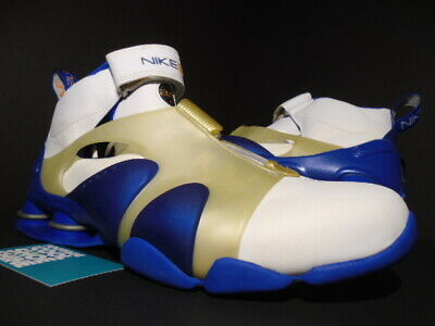 huge selection of ccedd c5f19 02 Nike Shox Stunner Pr Premium White Royal Blue Silver Gold Bb4 304410-102  11.5