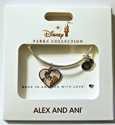 Disney Parks ALEX & ANI bracelet LADY AND THE TRAMP silver tone bangle - NEW