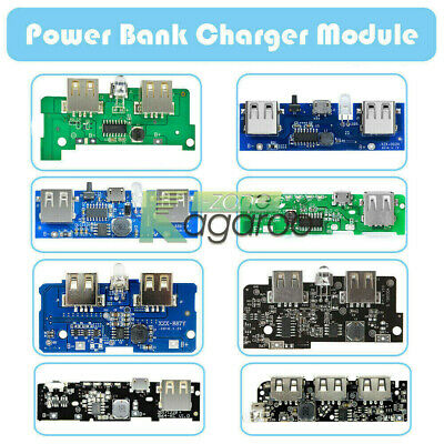 1A/2A/2.1A 5V Power Bank Charger Module Mobile Phone USB LED Boost PCB Board