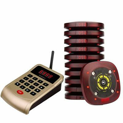 Retekess T118 Restaurant Wireless Paging System 999CH 1*Keypad+10*Coaster Pagers