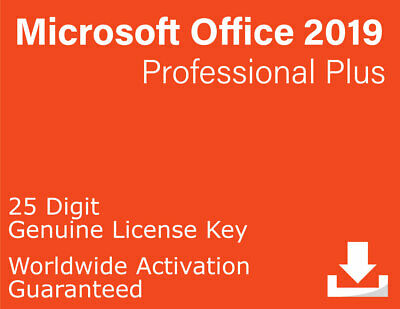 Microsoft Office Professional Plus 2019 License Key for PC