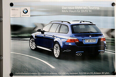 Original Plakat Der neue BMW  M5 Touring Affiche Ancies