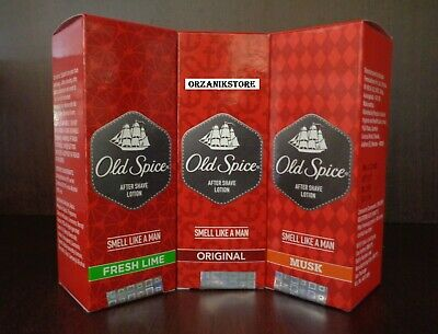 OLD SPICE Aftershave Lotion Men (Original, Musk, Fresh Lime) 50m /100ml,/150ml