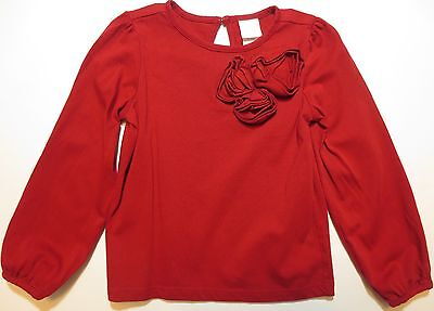 Janie and Jack Girl's Size 3 Red Rose Top Pretty In Plaid Line