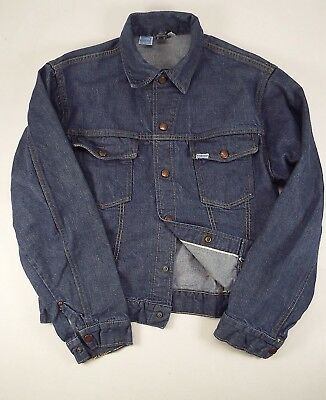 0143b05e8e Vintage Mens SEARS ROEBUCK SELVEDGE Jean Jacket Denim Coat 40R Made in USA  1960s
