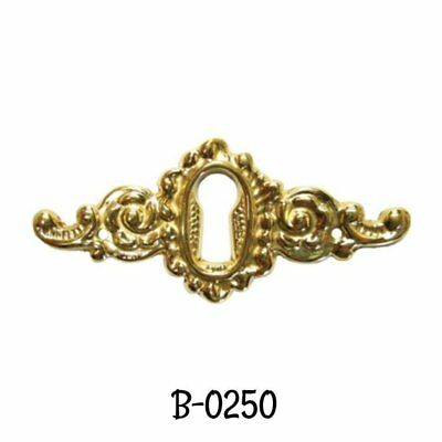 Cast Brass Victorian Style Keyhole Cover -Antique style Brass Keyhole Cover
