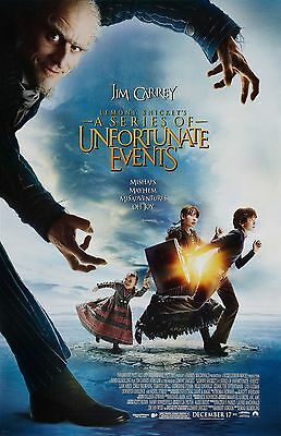 """Lemony Snicket's movie poster (b) -  11"""" x 17"""" inches - Jim Carrey"""