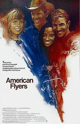 """American Flyers movie poster -  11"""" x 17"""" inches - Kevin Costner"""