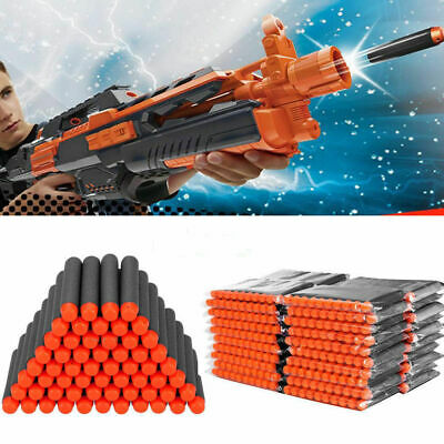 200x Gun Darts Bullets Refill Soft Toy Round Head Blast For NERF Elite N -Strike