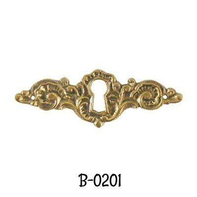 Keyhole Cover Cast Brass Victorian Style Keyhole cover - Solid  Polished Brass