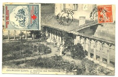 FRANCE 1910 ca.  PPC  WITH   RED CROSS LABEL   F/VF