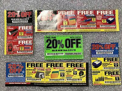5 Super Coupon 20 Off Harbor Freight Any Single Item Exp March
