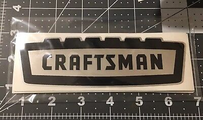 Craftsman vintage 1950's 60's style decal toolbox Crown Black On Chrome Large 6""