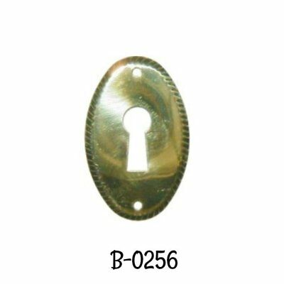 Keyhole Cover Stamped Brass Early American Style Oval Keyhole Cover Escutcheon