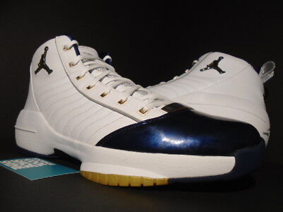 af20aa54803c1d 2004 Nike Air Jordan Xix 19 Se Usa Olympic White Gold Navy Blue 308492-171