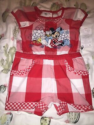 Disneystore Minnie Mouse And Daisy Baby Girl Playsuit 18-24 Months BNWT Cute