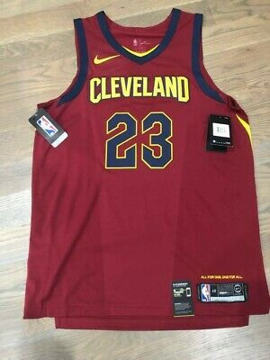 the best attitude 001c9 1a7fb NIKE MENS CLEVELAND Cavaliers LeBron James authentic basketball jersey size  48