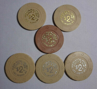 Vintage Plaza Poker & Pan $2 $3 Tournament lot of 6 Chips Las Vegas Casino