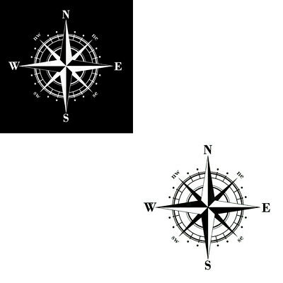 15cm Art Design DIY Vinyl NSWE Compass Car Stickers Decals Auto Part