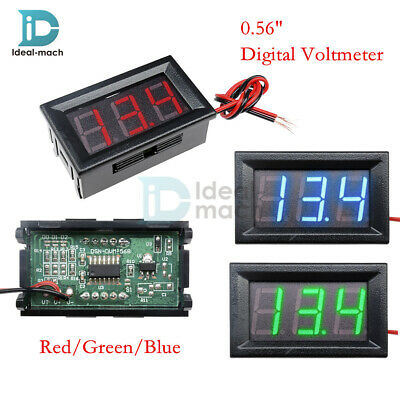 "0.56"" DC4.5/4.7/5V-30V Voltmeter LED Panel 3 Digital Display Volt Voltage Meter"