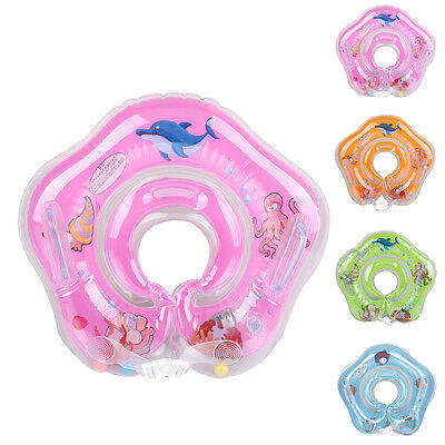 Inflatable Baby Newborn Neck Float Ring Bath Safety Aid Toy Swimming Circle AU