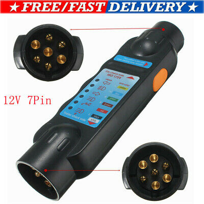 12v 7 Pin Car & Trailer Towing Lights Plug & Socket Cable Wiring Circuit Tester
