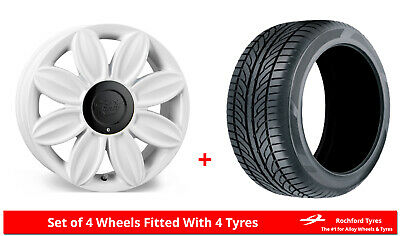 """Alloy Wheels & Tyres 16"""" Tansy Daisy For Ford Courier 91-06"""