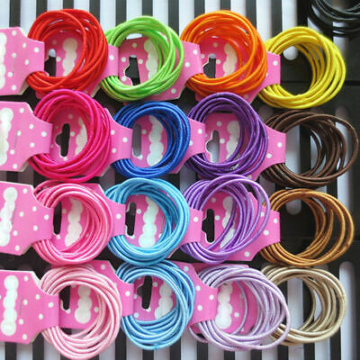 100Pcs Kids Girl Elastic Rope Hair Ties Ponytail Holder Head Band Hairbands SD